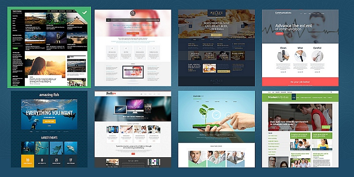 wordpress-template-selection
