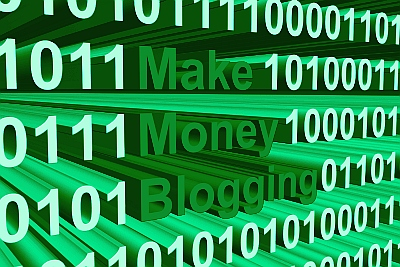 Make Money Blogging presented in the form of binary code