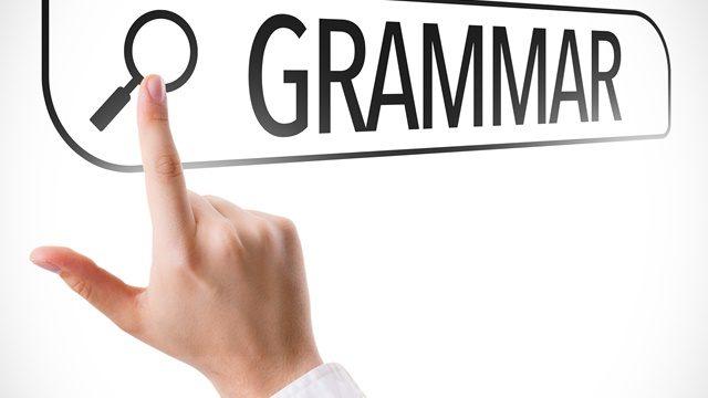 Grammar in website
